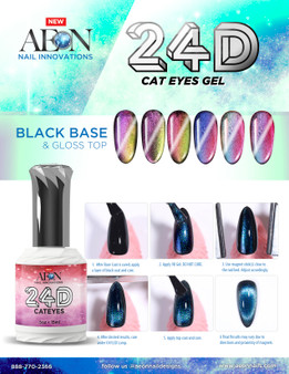 Aeon Gel 24D Cateye ( Set of 6 ) + Free 1 Aeon Pitch Black Gel 0.5 Oz