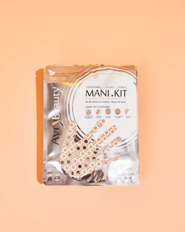 Avry All-In-One Disposable MANI Kit with Shea Butter Gloves