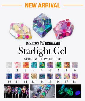 MS Starlight Gel Stone & Glow Effect 18 Colors