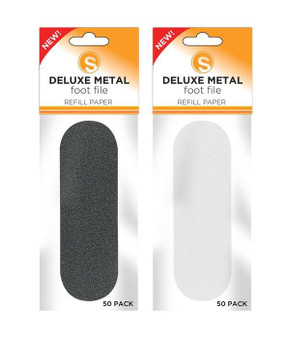 Sunny Deluxe Metal Foot File Refill Grit Extra Coarse 50pcs/Pack