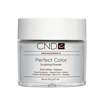 CND - PERFECT COLOR SCULPTING POWDERS - PURE WHITE - OPAQUE 3.7 Oz. / 104 g