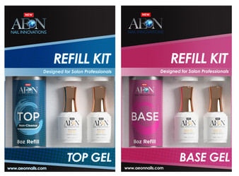 Aeon Combo Top & Base Gel Refill Kit 8oz