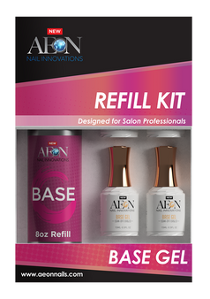 Aeon Base Gel Refill 8oz + 4 Free Base Gel 0.5oz
