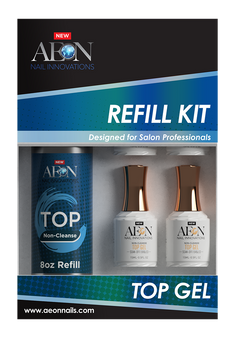 Aeon Top Gel Refill 8oz + 4 Free Top Gel 0.5oz
