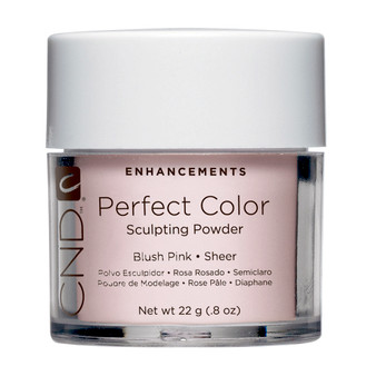 CND - PERFECT COLOR SCULPTING POWDERS - BLUSH PINK - SHEER 0.8 Oz. / 22 g