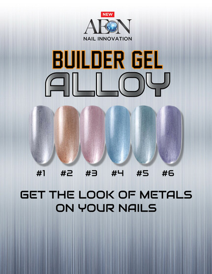 Aeon Builder Gel Alloy Collection ( Set of 6 Colors )  + Free 3 Design Brushes