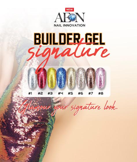 Aeon Builder Gel Signature ( set of 8 Colors ) + Free 3 Design Brushes