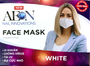 Washable Face Mask 3 Layer - White Color (set of 2pcs) Buy 1 set Get 1 Free