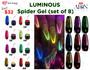 Aeon Spider Gel Glow In The Dark (set of 8) + Free 3 Design Brushes