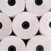 """3"""" x 65' 3-Ply Carbonless Paper (50 rolls/case) - White / Canary / Pink"""