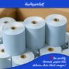 "3 1/8"" x 230' Thermal Paper Rolls (50 rolls/case) - Blue"