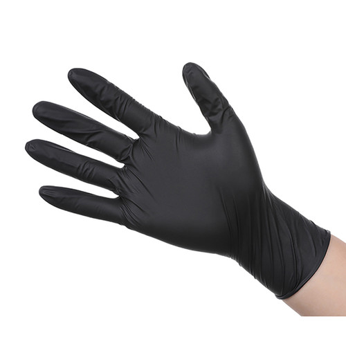 Black Nitrile Disposable Gloves, Latex Free, Powder Free, Pack of 100PCS