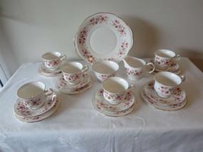 Marple Antiques Vintage Queen Anne Cascade Roses Tea Set