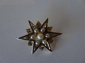 Marple Antiques Rare Antique Star Brooch