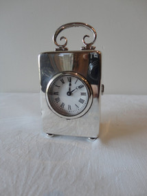 Marple Antiques English Sterling Silver Carriage Clock William Comyns
