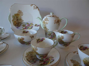 Marple Antiques Shelley Heather Pattern Coffee Set
