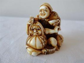 Marple Antiques Japanese Netsuke of Standing Figure