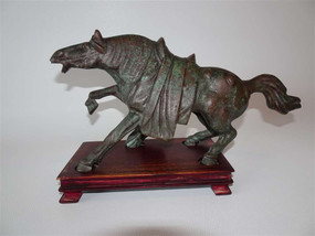 Chinese bronze Tang style horse