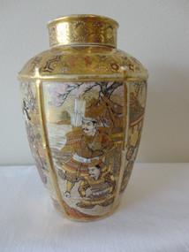 Japanese Japanese Meiji Satsuma Lidded Vase Hattori