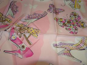 Salvatore Ferragamo Vintage Salvatore Ferragamo Shoes and Butterflies Silk Scarf