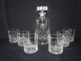Marple Antiques Rare Handblown Glass Decanter and Whiskey Glasses University of Sydney