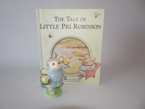 Marple Antiques Beswick Beatrix Potter Little Pig Robinson with Book