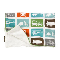 DwellStudio Transportation Stroller Blanket Velour