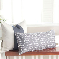 "Oilo 12""x24"" Finn Pillow - Charcoal"