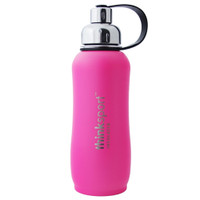ThinkBaby thinksport Insulated Sports Bottle 25oz - Coated Hot Pink