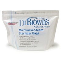 Dr. Brown Microwave Steam Sterilizer Bags - 5 pk