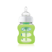 Dr. Brown Wide Neck Glass Bottle Sleeve 5 oz - Light Green