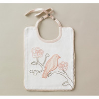 DwellStudio Vintage Blossom Embroidered Bib
