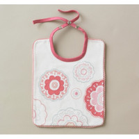 DwellStudio Zinnia Rose Embroidered Bib