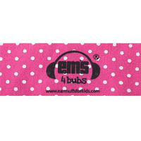 EMS 4 KIDS Earmuffs for Bubs Adjustable Headband - Pink/White