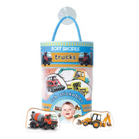 innovativeKids Soft Shapes Tub Stickables - Trucks