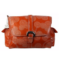 Kalencom Buckle Bag - Coated Matte - Stitches Orange