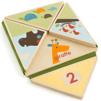 Skip Hop Giraffe Safari Fold & Play Book