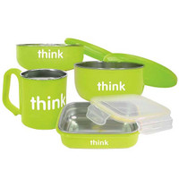 ThinkBaby The Complete BPA Free Feeding Set - Light Green