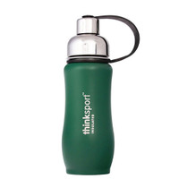 ThinkBaby thinksport Insulated Sports Bottle 12oz - Coated Green