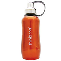 ThinkBaby thinksport Insulated Sports Bottle 25oz - Metallic Orange