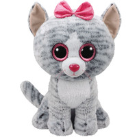 Beanie Babies Beanie Boos Kiki Grey Cat - 13in