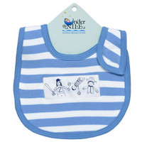 Under The Nile Bib - Blue Stripe