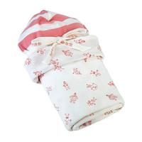 Under The Nile Stroller Blanket & Hat Gift Set - Girl People Print