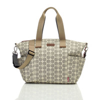 Babymel Evie Diaper Bag - Grey Floral Dot