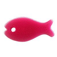 Innobaby Bathin' Smart Fish Bath Scrub - Light Pink/Fuchsia