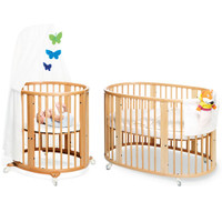 STOKKE SLEEPI System1 and Mattress Natural