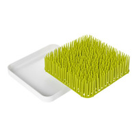 Boon Turf Countertop Drying Rack - Green + White Disassembled