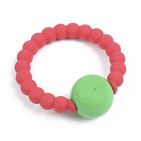 Chewbeads Mercer Rattle - Punchy Pink