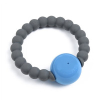 Chewbeads Mercer Rattle - Stormy Grey