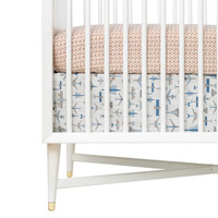 DwellStudio Flight Percale Crib Skirt